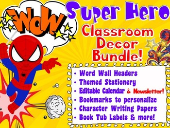 Super Hero Classroom Decor Kit - Classroom, Homeschool, Fun Things for Kids