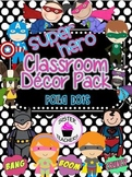 Super Hero Classroom Decor Pack ~Polka Dots~