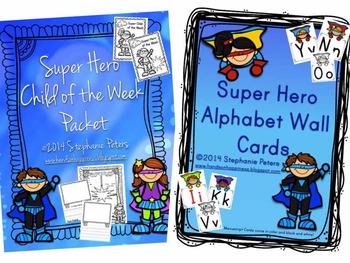 Super Hero Classroom Decor Starter Set Bundle