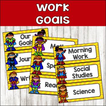 Super Hero Classroom Decor {Work Goals & Voice Levels}