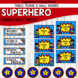 Super Hero Classroom Decor {Table Teams & Hall Passes}
