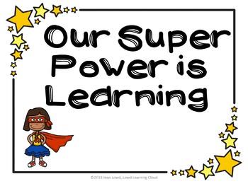 Super Hero Classroom Decoration Set *Editable!!*