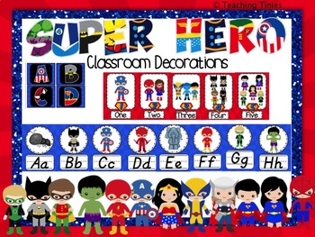 Super Hero Theme Classroom Decorations
