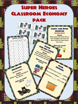 Super Hero Classroom Economy Pack