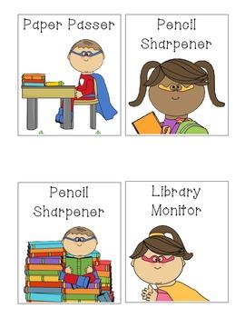 Super Hero Classroom Helpers