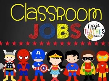 Super Hero Classroom Jobs