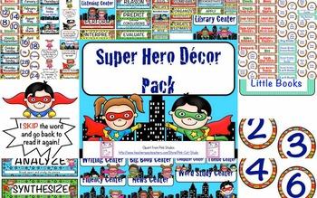 Super Hero Classroom Labels Freebie