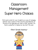 Super Hero Classroom Management Punch Cards