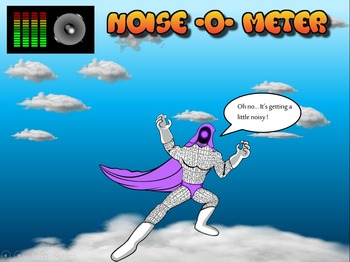 Super Hero Classroom Noise -O- Meter