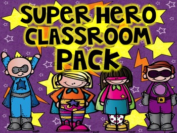 Super Hero Classroom Pack