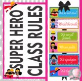 Super Hero Decor Classroom Rules - EDITABLE