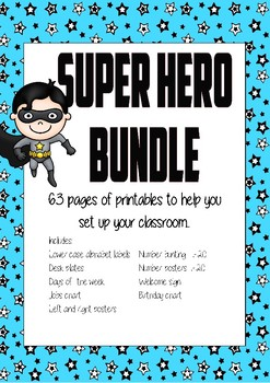 Super Hero Classroom Setup Bundle