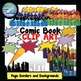 Super Hero Comic Book Themed Clip Art Package