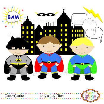 Super Hero Clip Art or Clipart - Superheroes Clip Art
