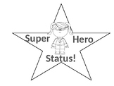 Super Hero Clip Chart-Color and Black and White