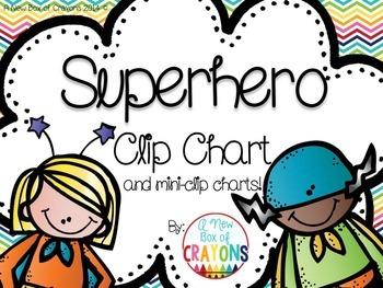 Super Hero Clip Chart with Mini-Clip charts