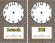 Super Hero Clock Labels