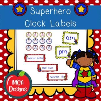 Super Hero - Clock Labels