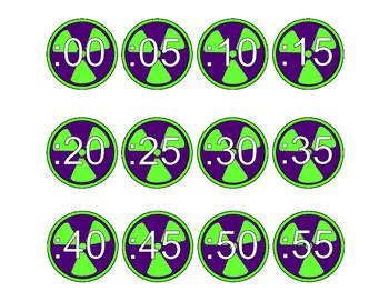 Super Hero Clock Minute Circles