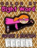 Super Hero Color By Sight Word - Grade 1 Edition