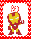 Super Hero Color Cards