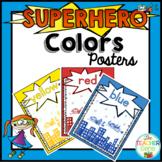 Superhero Color Posters