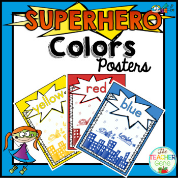 Super Hero Color Posters
