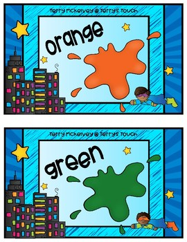 Super Hero Color Word Posters