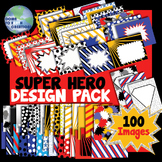 Super Hero Comic Book Themed Design Pack!