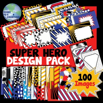 Super Hero Comic Book Themed Design Pack!