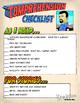 Super Hero Comprehension Checklist