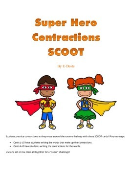 Super Hero Contractions SCOOT