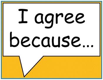 Superhero Conversation Starters (Accountable Talk Stems)