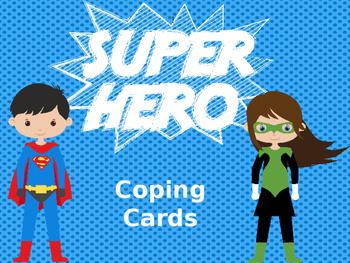 Coping Skills Cards- Super Hero Theme