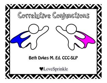 Super Hero Correlative Conjunctions Game