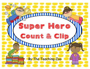Super Hero Count & Clip 1-20