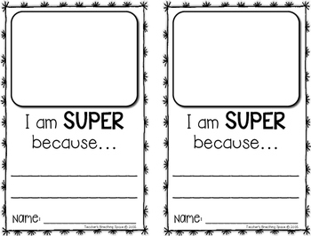 Super Hero Craftivity --- Super Hero Writing Project
