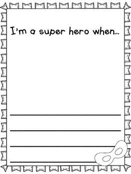 Super Hero Craftivity and Writing Templates