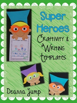 Super Hero Craftivity and Writing Templates