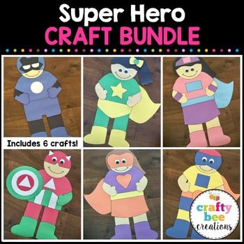 Super Hero Cut and Paste Set