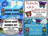 Super Hero D'Nealian Classroom Decor Starter Set Bundle