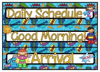 Super Hero Daily Schedule
