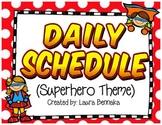 Super Hero Daily Visual Schedule