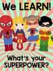Super Hero Decor SUPER Pack w/ Editable Nametags