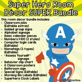 Super Hero Decor SUPER Pack w/ Editable Nametags