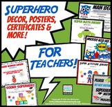 Super Hero Decor for Classroom | Posters, Certificates & More