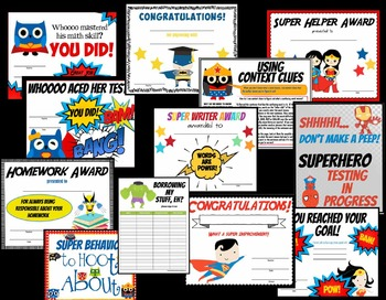 Super Hero Decor for Your Classroom! {posters, certificates & MORE!}