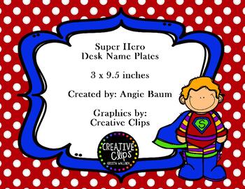 Super Hero Desk Name Plates