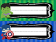 Super Hero Desk Nameplates EDITABLE FREEBIE!