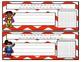 Super Hero Desk Plates w/ 100s Chart